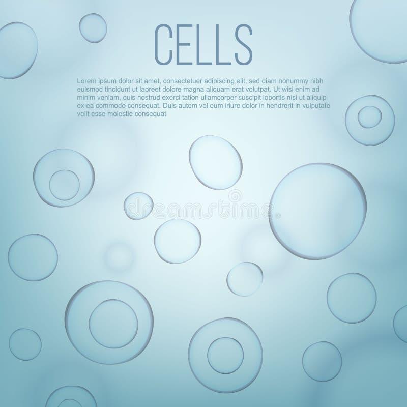 Illustrazione creativa di vettore del fondo scientifico della medicina delle cellule di biologia di vita Fine di macro del micros illustrazione di stock