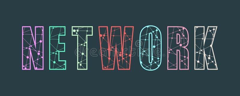 Illustrazione creativa di vettore dell'iscrizione di parola della rete illustrazione di stock