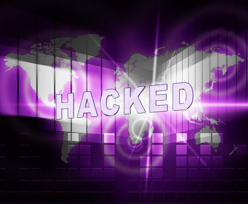 Illustrazione cyber incisa sito Web di allarme di sicurezza 3d royalty illustrazione gratis