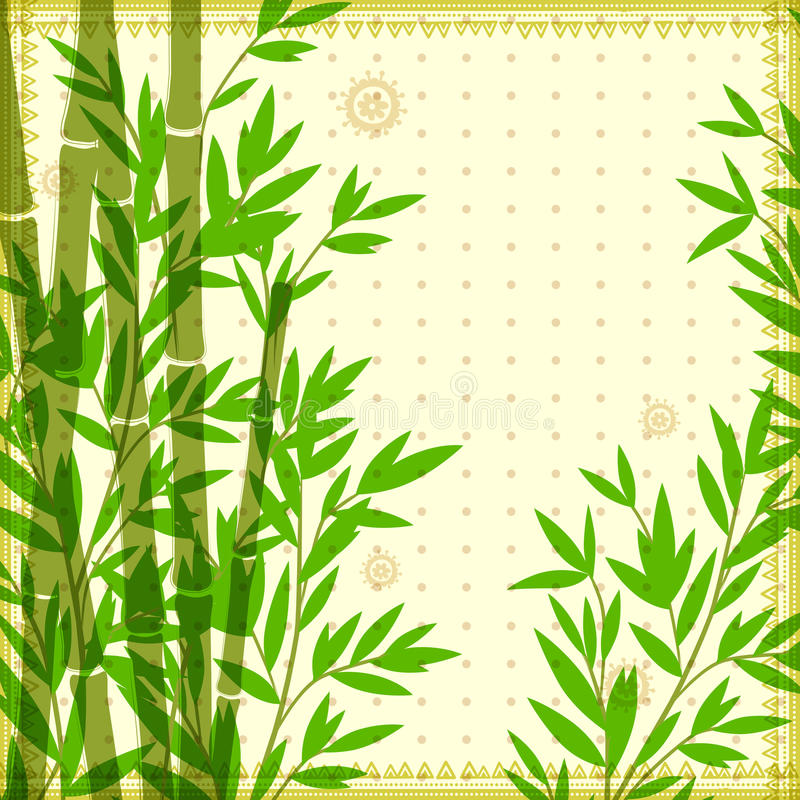 Illustrazione d'annata di bambù per il vostro affare royalty illustrazione gratis