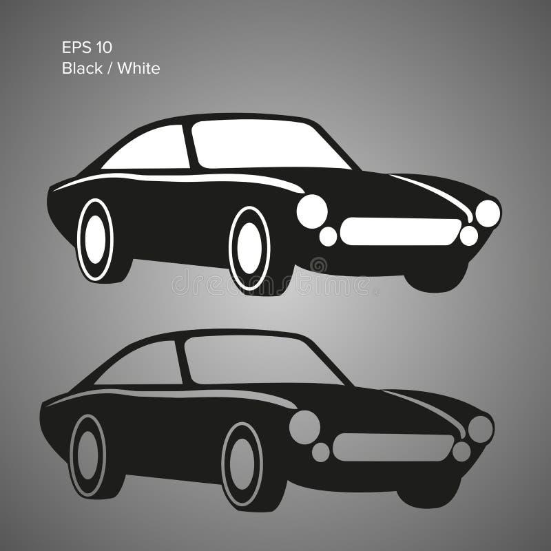 Illustrazione d'annata di vettore dell'automobile sportiva Classico europeo illustrazione vettoriale