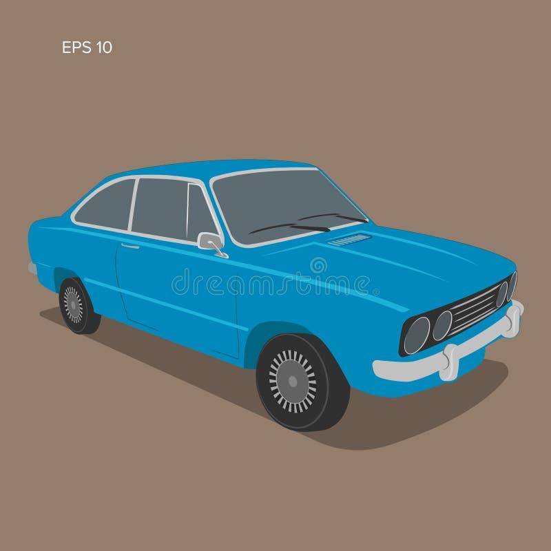 Illustrazione d'annata europea di vettore dell'automobile Automobile sportiva d'annata royalty illustrazione gratis