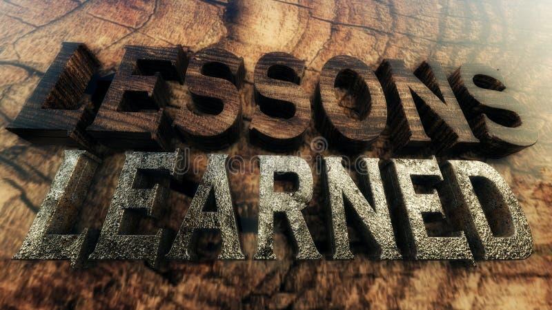 illustrazione 3D: Concetto istruito di lezioni illustrazione di stock
