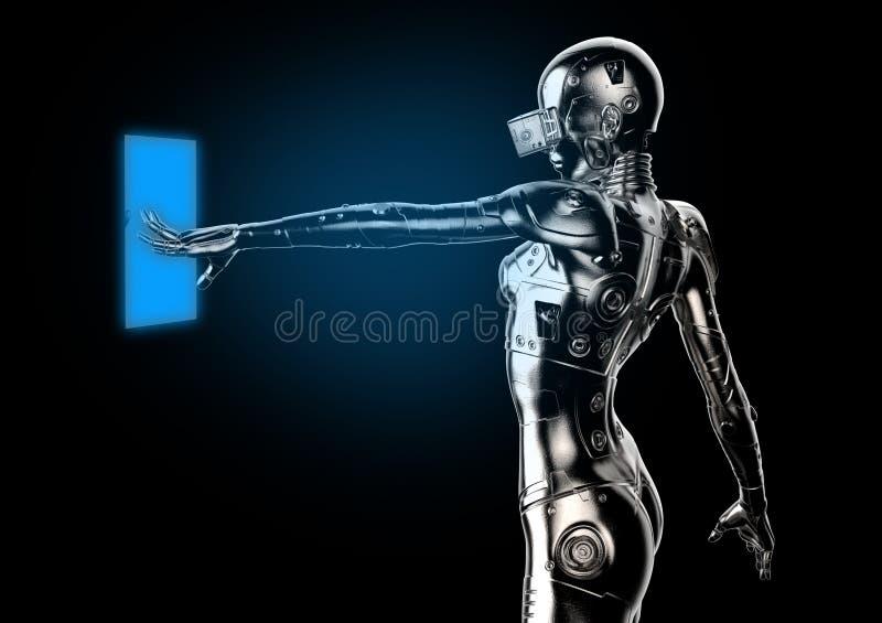 illustrazione 3D Cyborg alla moda la donna royalty illustrazione gratis