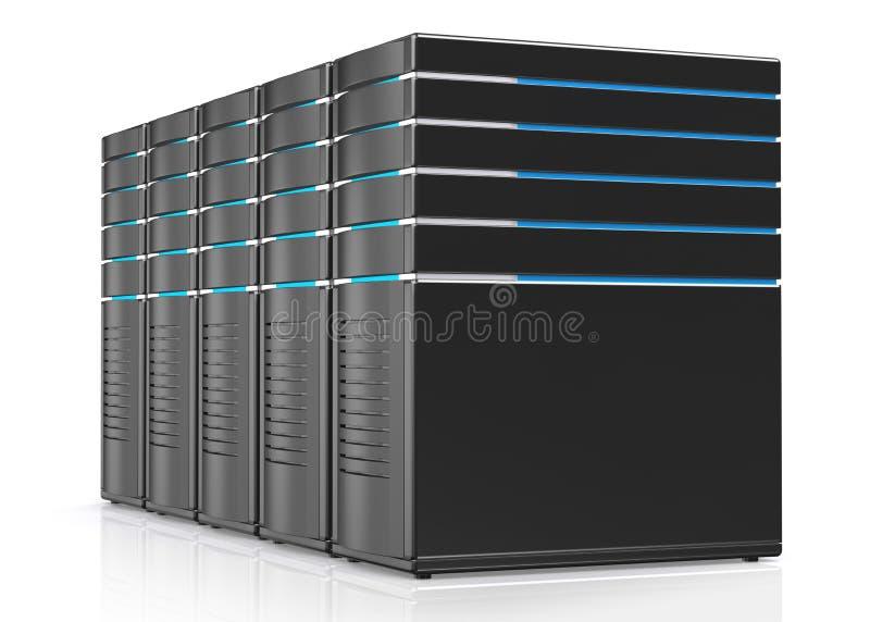 illustrazione 3D dei server della stazione di lavoro della rete royalty illustrazione gratis