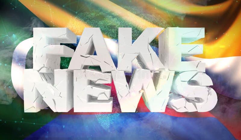 illustrazione 3D del concetto falso di notizie con la bandiera del fondo delle Comore royalty illustrazione gratis