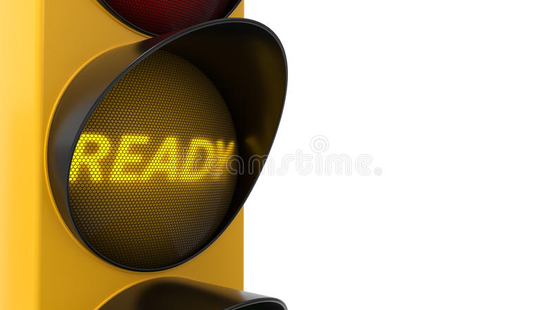 illustrazione 3d del semaforo con testo royalty illustrazione gratis