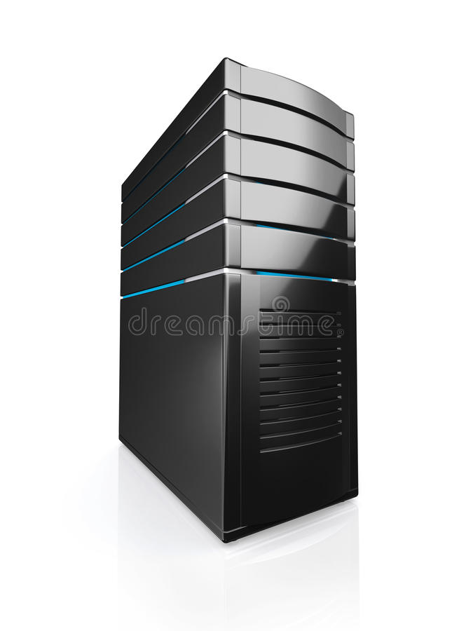 illustrazione 3D del server della stazione di lavoro della rete illustrazione vettoriale