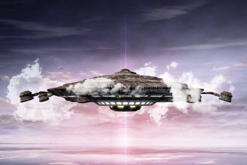 illustrazione 3d dell'oggetto volante non identificato dell'ONU royalty illustrazione gratis