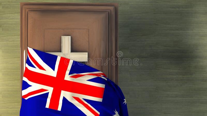 illustrazione 3d della bandiera royalty illustrazione gratis