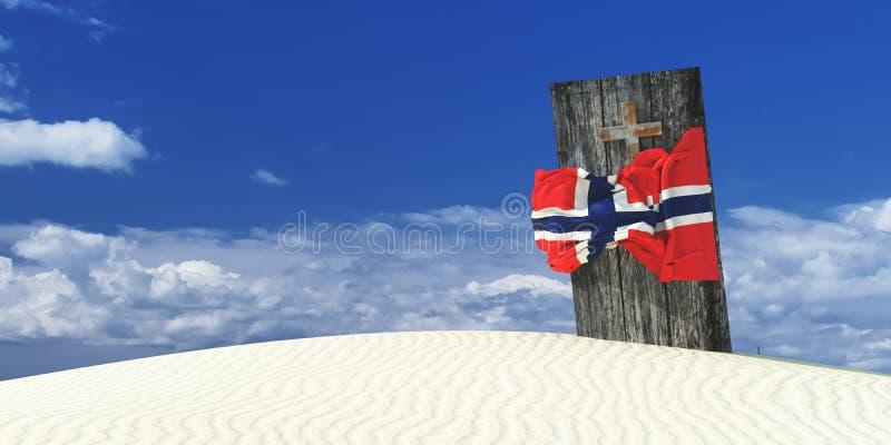 illustrazione 3d della bandiera illustrazione di stock