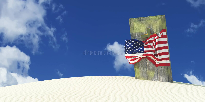 illustrazione 3d della bandiera illustrazione vettoriale