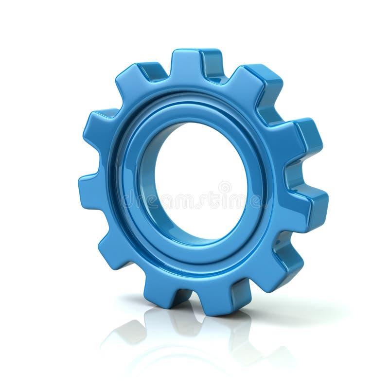illustrazione 3d della ruota di ingranaggio blu royalty illustrazione gratis
