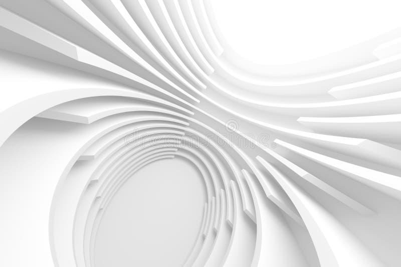 illustrazione 3d di Corridoio futuristico leggero Tecnologia minima Ren royalty illustrazione gratis