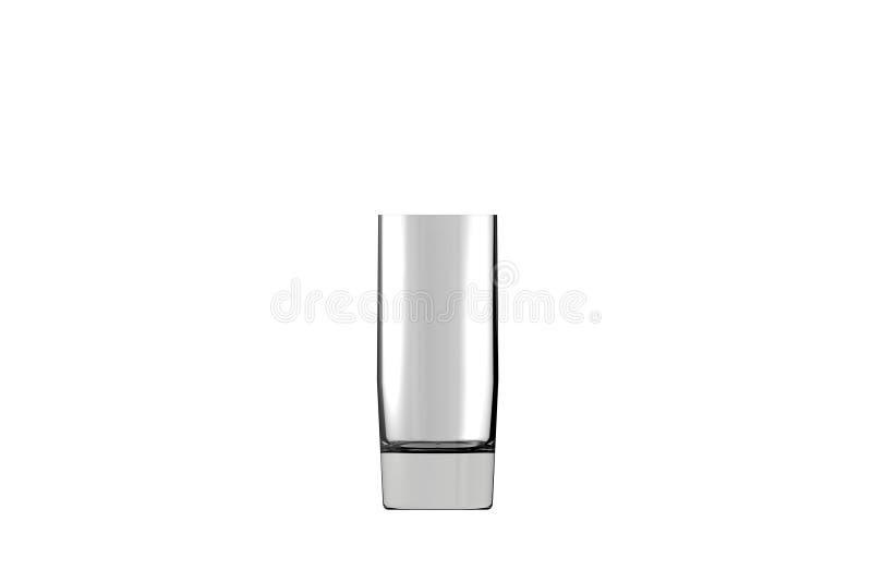 illustrazione 3D di forte vetro isolato sulla vista laterale bianca - bicchiere di collins dei cocktail rendere royalty illustrazione gratis