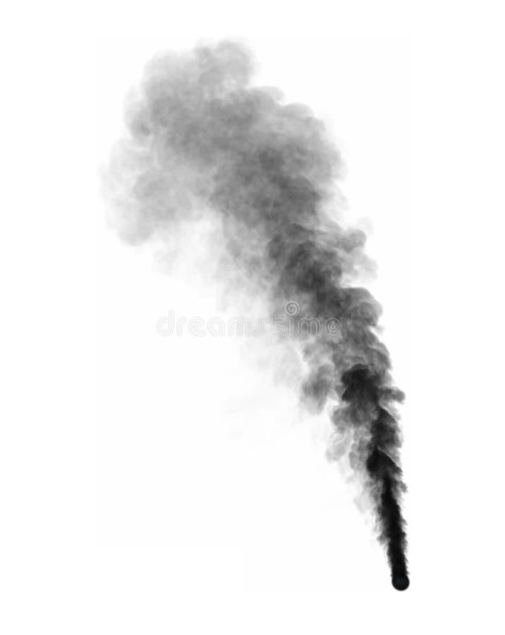 illustrazione 3D di fumo scuro nebbioso isolato su fondo bianco illustrazione di stock