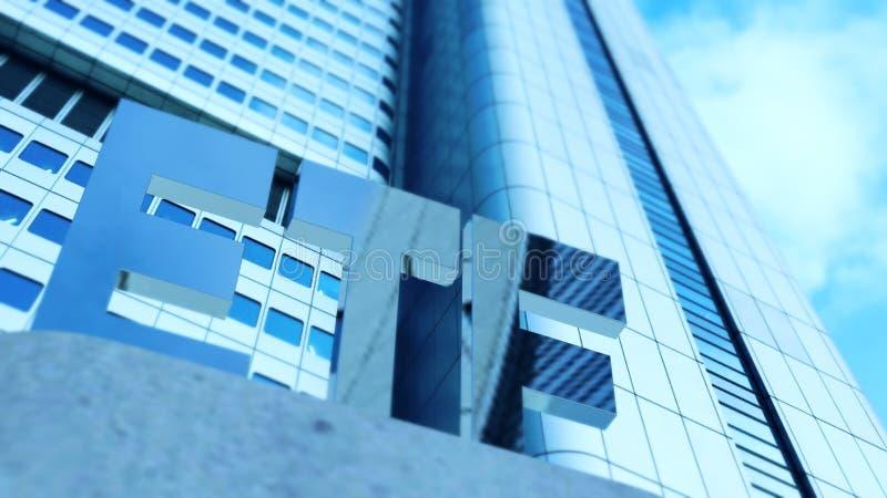 illustrazione 3D: ETF - fondi di commerci di scambio illustrazione vettoriale