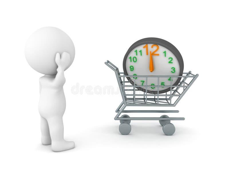 illustrazione 3D il concetto di prova di comprare più tempo royalty illustrazione gratis