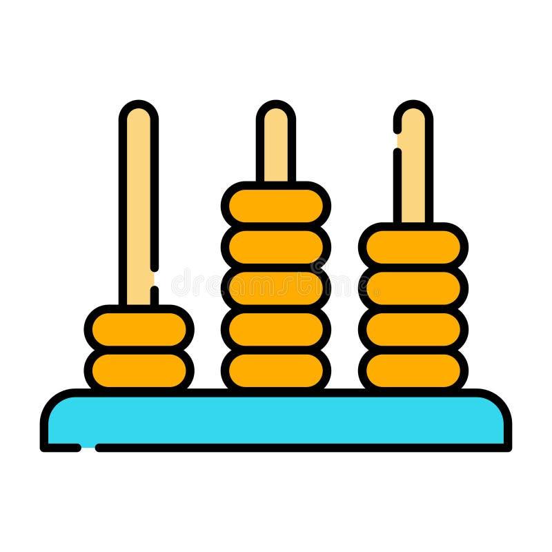 Illustrazione d'impilamento del legno di LineColor degli anelli illustrazione vettoriale
