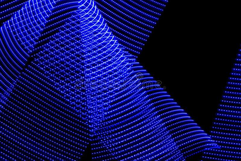 illustrazione 3D Luci astratte variopinte su fondo nero Fotografia leggera della pittura royalty illustrazione gratis