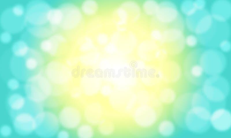 Illustrazione d'ombreggiatura luminosa dorata del fondo di Bokeh illustrazione di stock