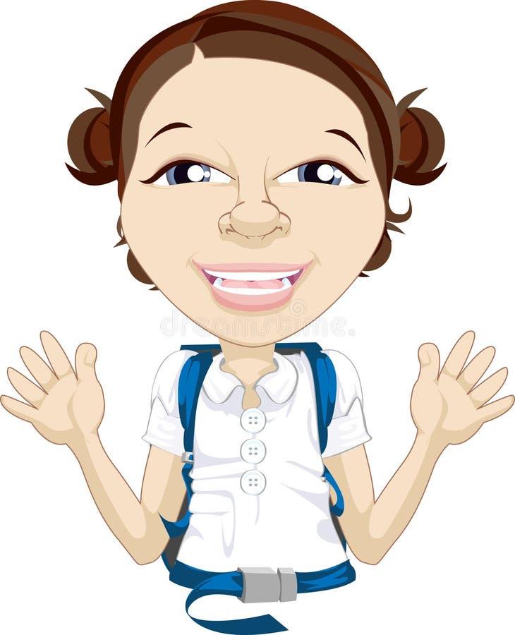 Illustrazione d'ondeggiamento della ragazza del banco illustrazione vettoriale