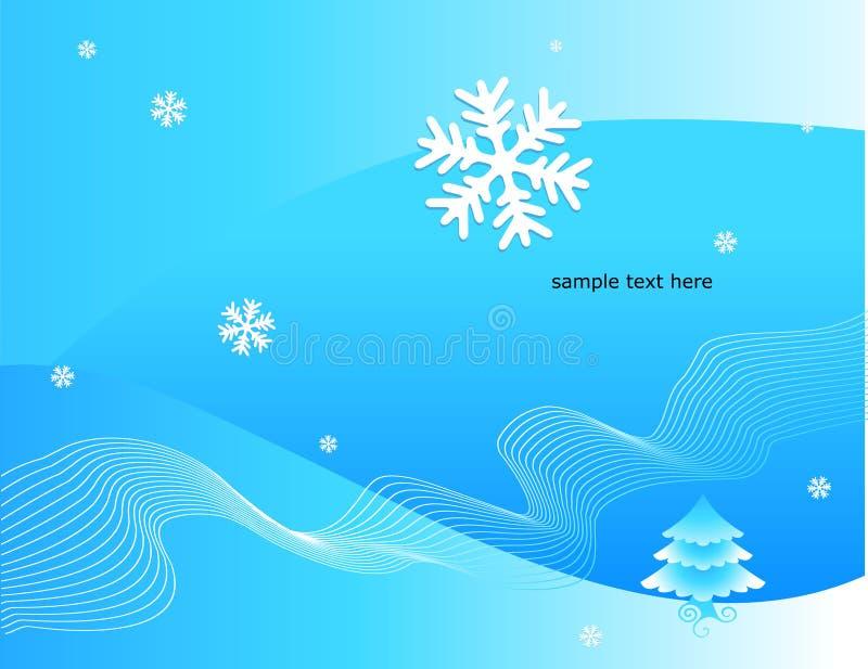 Illustrazione decorativa di inverno royalty illustrazione gratis