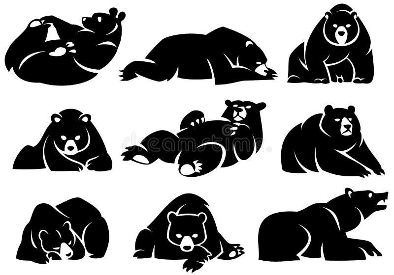 Illustrazione decorativa di un orso di menzogne royalty illustrazione gratis