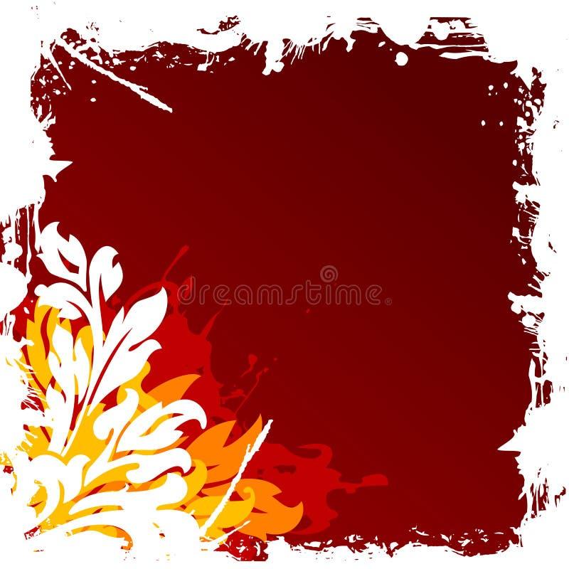 Illustrazione decorativa floreale di vettore della priorità bassa del grunge astratto illustrazione di stock