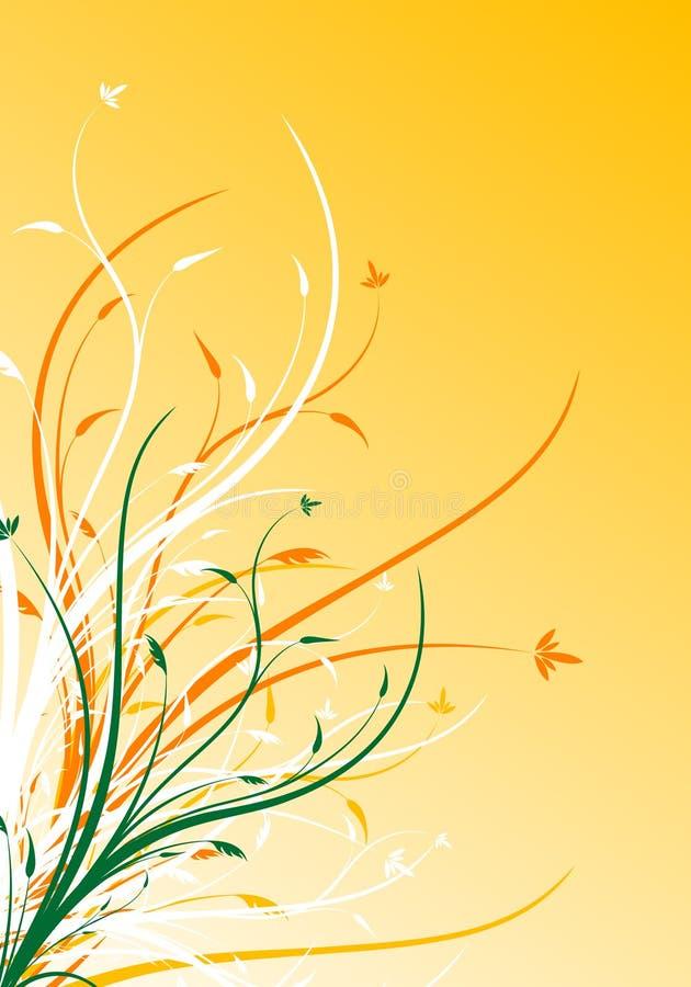 Illustrazione decorativa floreale di vettore della priorità bassa della sorgente astratta illustrazione vettoriale