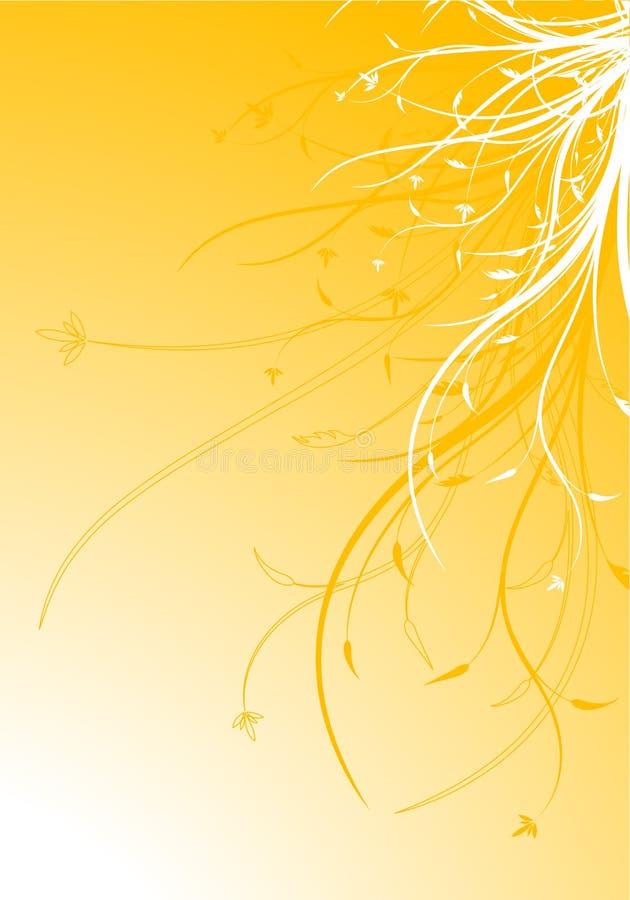 Illustrazione decorativa floreale di vettore della priorità bassa della sorgente astratta royalty illustrazione gratis
