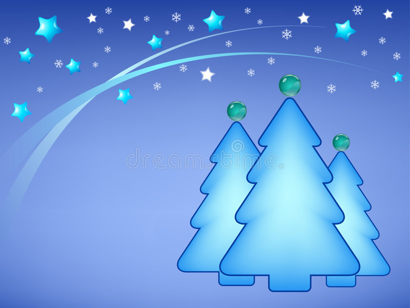 Illustrazione degli alberi di Natale illustrazione vettoriale