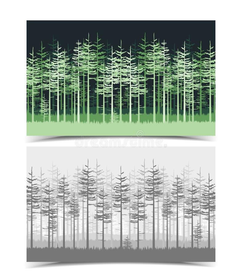 Illustrazione degli alberi verdi royalty illustrazione gratis