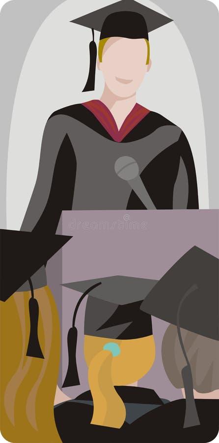 Illustrazione degli allievi graduati illustrazione vettoriale