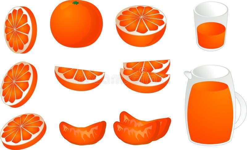 Illustrazione degli aranci royalty illustrazione gratis