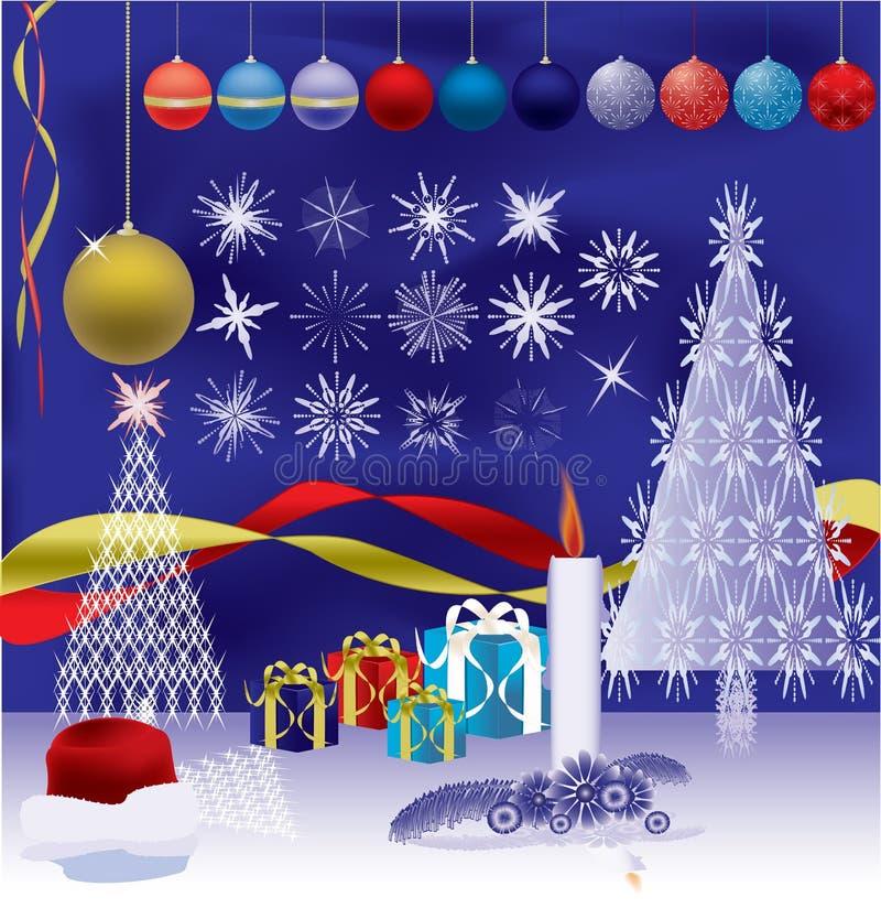 Illustrazione degli elementi di nuovo anno royalty illustrazione gratis