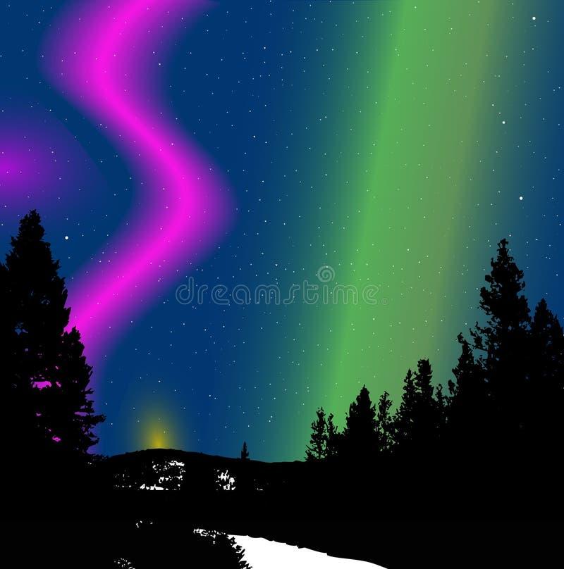Illustrazione degli indicatori luminosi nordici royalty illustrazione gratis