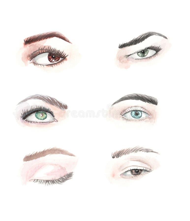 Illustrazione degli occhi dell'acquerello royalty illustrazione gratis