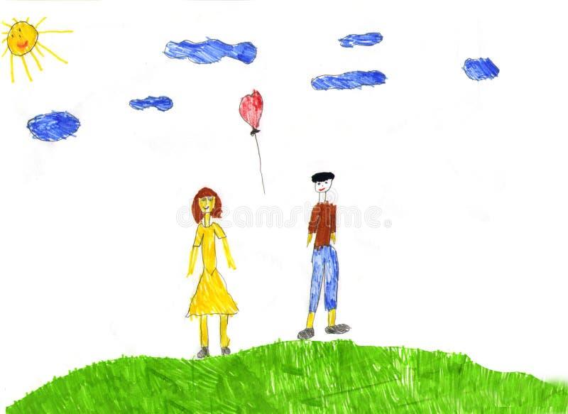Illustrazione dei bambini illustrazione vettoriale