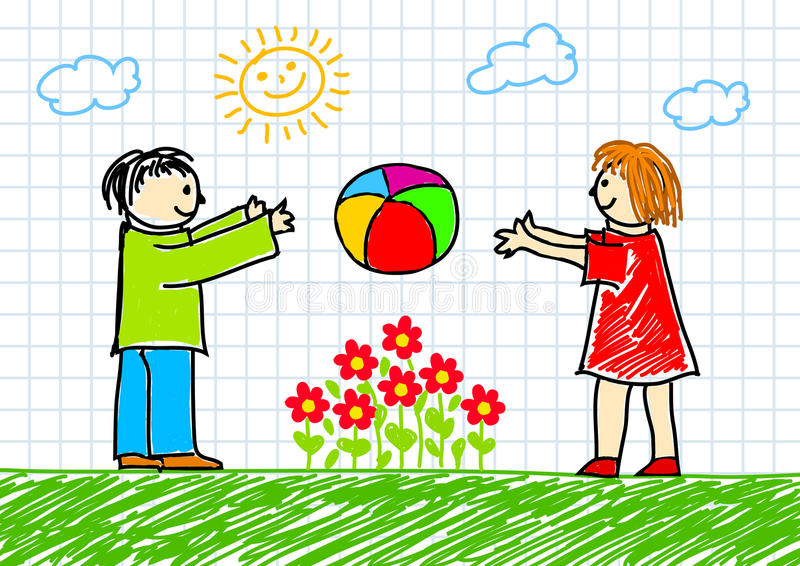 Illustrazione dei bambini illustrazione di stock
