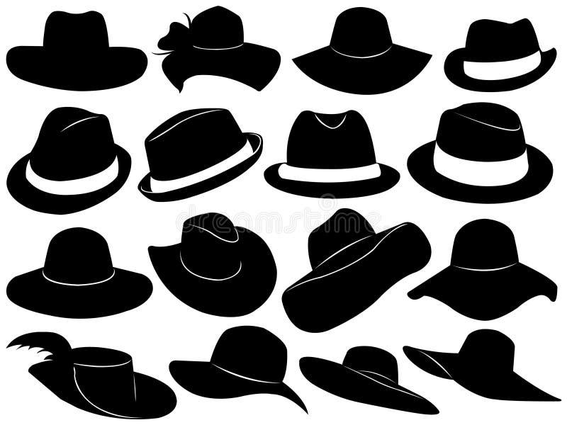 Illustrazione dei cappelli illustrazione vettoriale