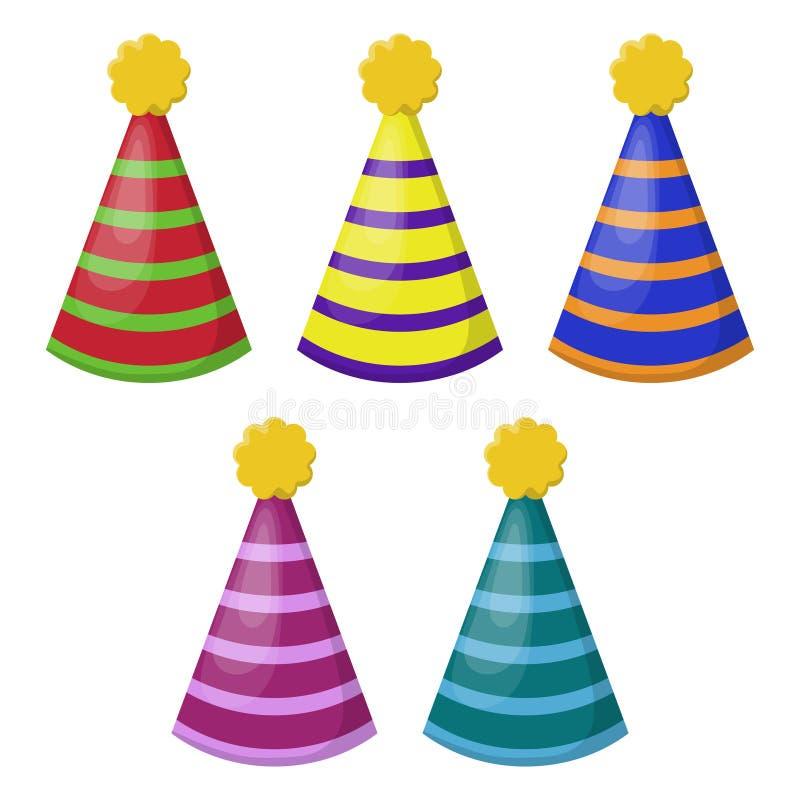 Illustrazione dei cappelli del partito royalty illustrazione gratis