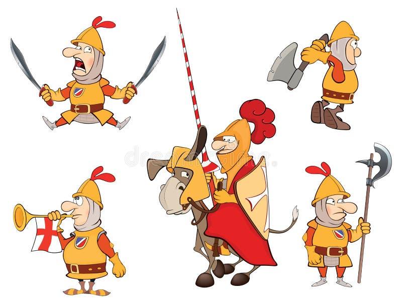 Illustrazione dei cavalieri del fumetto di umore illustrazione di stock
