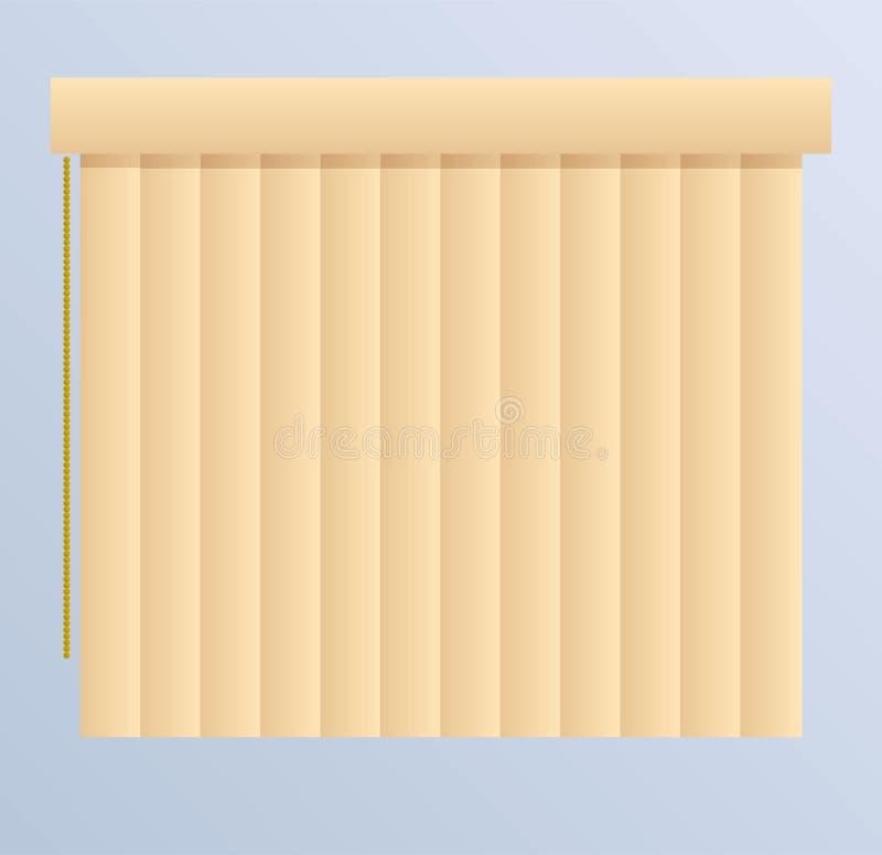 Illustrazione dei ciechi di finestra illustrazione vettoriale