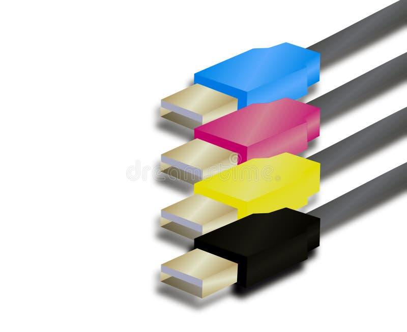 Illustrazione dei collegamenti del USB fotografie stock libere da diritti