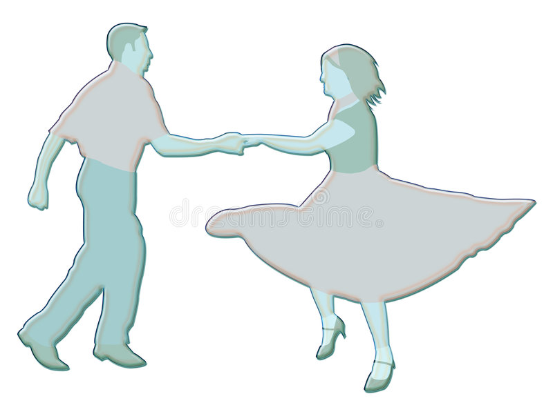 Illustrazione dei danzatori illustrazione di stock