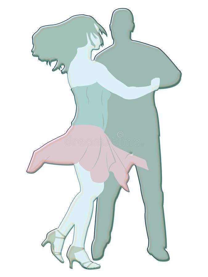 Illustrazione dei danzatori illustrazione vettoriale