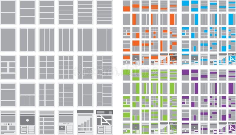 Illustrazione dei diagrammi di flusso e delle mappe del sito del sito Web illustrazione vettoriale