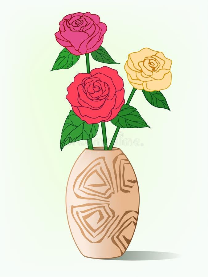 Illustrazione dei fiori in vaso royalty illustrazione gratis