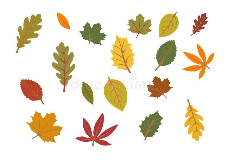 Illustrazione dei fogli di autunno royalty illustrazione gratis